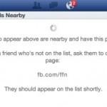 Facebook для iOS получил возможность поиска друзей поблизости