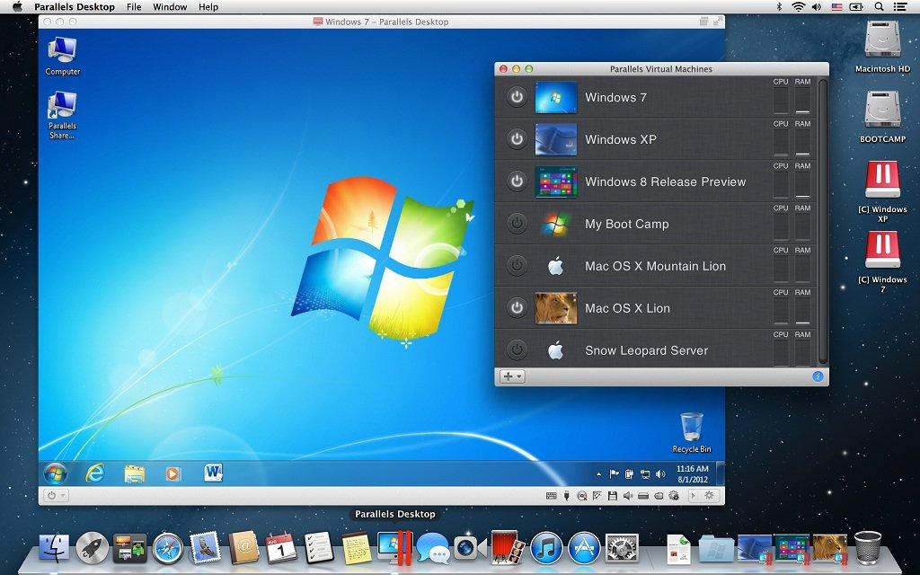 Установка Windows на Mac через Parallels Desktop