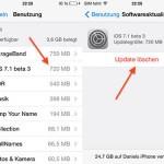 iOS 7.1 позволит удалить файл обновления прошивки