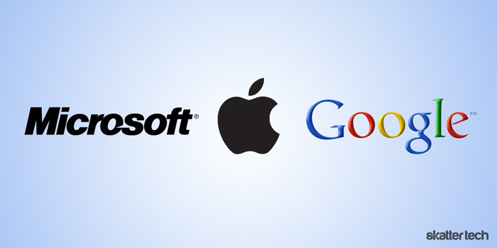 apple google microsoft Q1: compare the business models and areas of strength of apple, google, and microsoft although they have different business models and strategies, apple, google and microsoft are three major companies who seek to dominate the internet user's experience they come to the platform with their own proprietary strengths in looking at business models, apple.