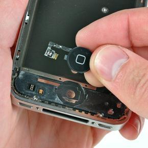Замена/ремонт шлейфа кнопки «Домой» iPhone 4