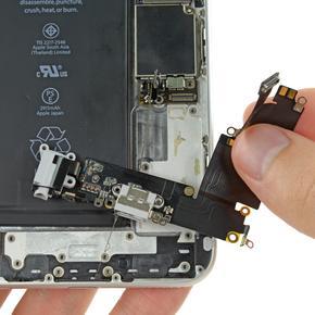 Замена нижнего шлейфа с разъемом зарядного устройства iPhone 6S Plus