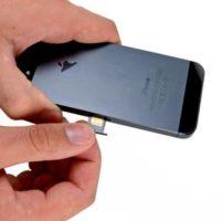 Извлечение застрявшей SIM-карты из лотка iPhone 5