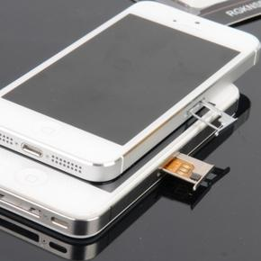Извлечение застрявшей SIM-карты из лотка iPhone 5C