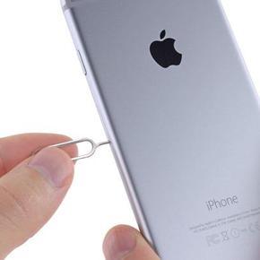 Извлечение застрявшей SIM-карты из лотка iPhone 6 Plus