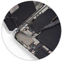 Восстановление внутренних элементов по цепи питания на материнской плате iPhone 8 Plus