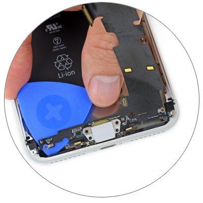 Восстановление микросхемы контролера питания iPhone 8 Plus