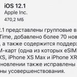 Apple выпустила iOS 12.1
